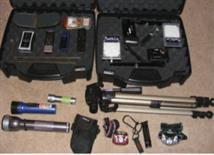 tripods and cases for paranormal groups equipment